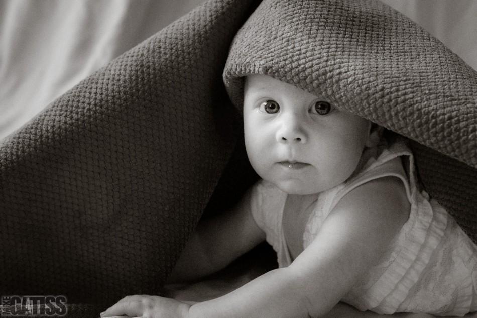 beautiful warm monochrome portrait